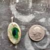 Green Gemstone Mold Ceramic Pendant Front