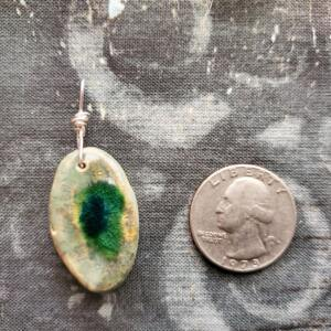 Green Gemstone Mold Ceramic Pendant Front