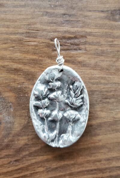 Lavender Fine Silver Pendant