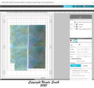 Inkjet Backgrounds No Silhouette Registration Marks