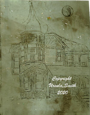 Victorian House Gelli Plate Laser Transfer