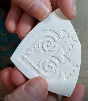 Resin Impression in Clay Uncoated 2