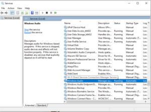 Services Windows Audio