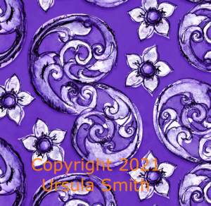 S Scroll Handdrawn Pattern 5 Purple Cropped 2