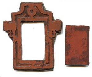Example of Frame Rubber Stamp with Interior Cut Out