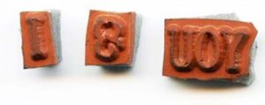Altering and Separating Word Rubber Stamps for Maximum Flexibility
